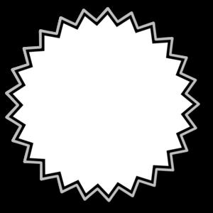 Outline baseline clip art. Burst clipart starburst