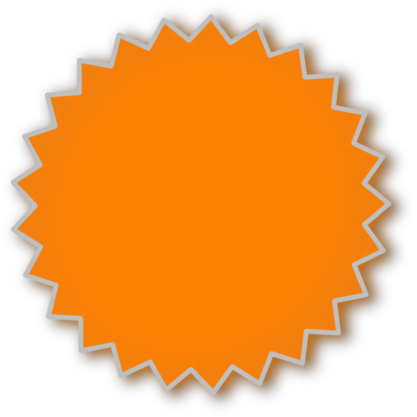 Dot clipart bursts. Starburst orange clip art