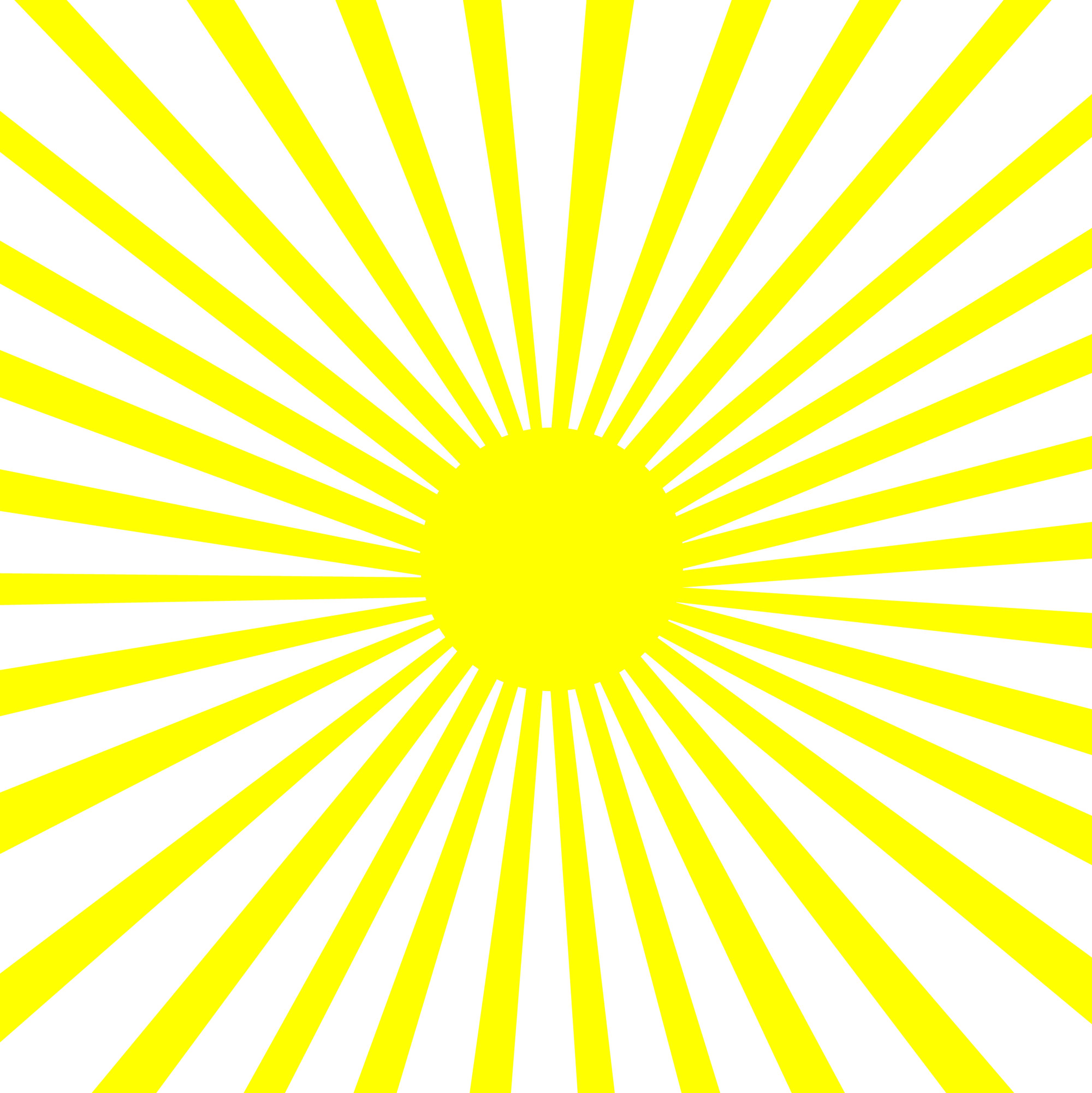 Lineart pattern yellow white. Burst clipart sun burst