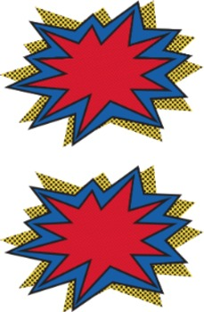 For decor or labels. Burst clipart superhero