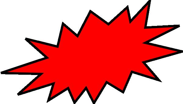 Red clip art at. Burst clipart superhero