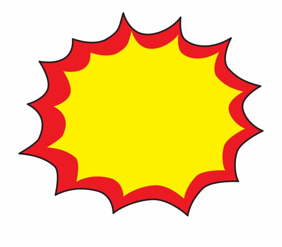Explosion clipart starburst. Superhero free