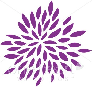 Burst clipart template. Flower