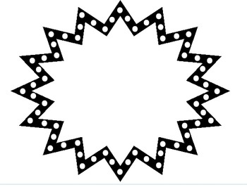 Burst clipart template. Starburst signs incep imagine