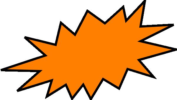 Orange clip art at. Burst clipart transparent