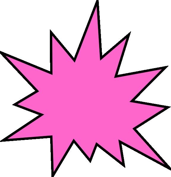 Dot clipart bursts. Pink star burst clip