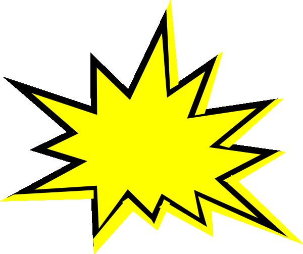 Starburst free content clip. Burst clipart transparent