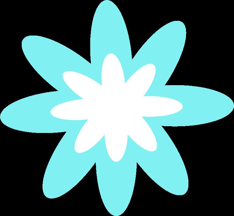 Blue flower medium image. Burst clipart turquoise