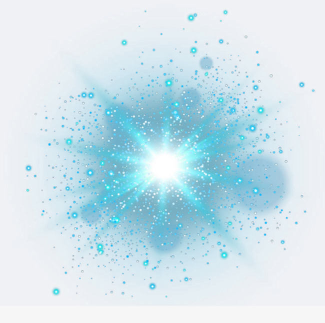 Burst clipart turquoise. Blue light effect lantern
