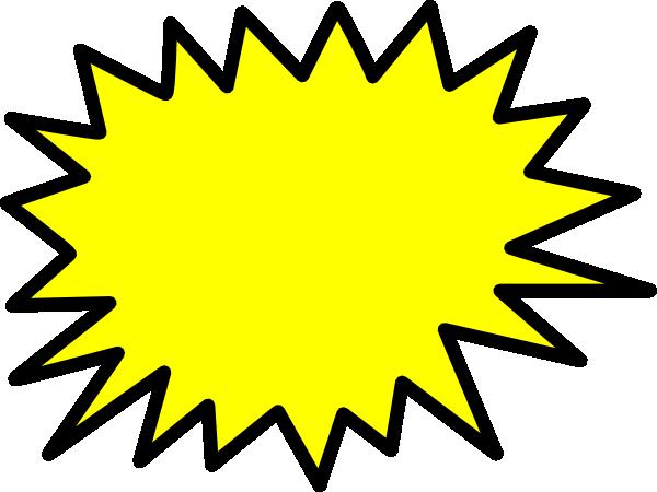 Yellow star clip art. Burst clipart vector