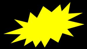 Clip art at clker. Burst clipart yellow