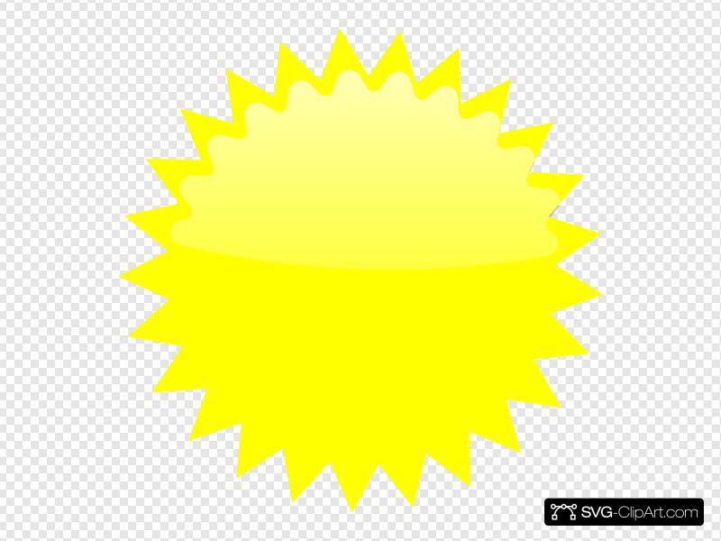 Star clip art icon. Burst clipart yellow