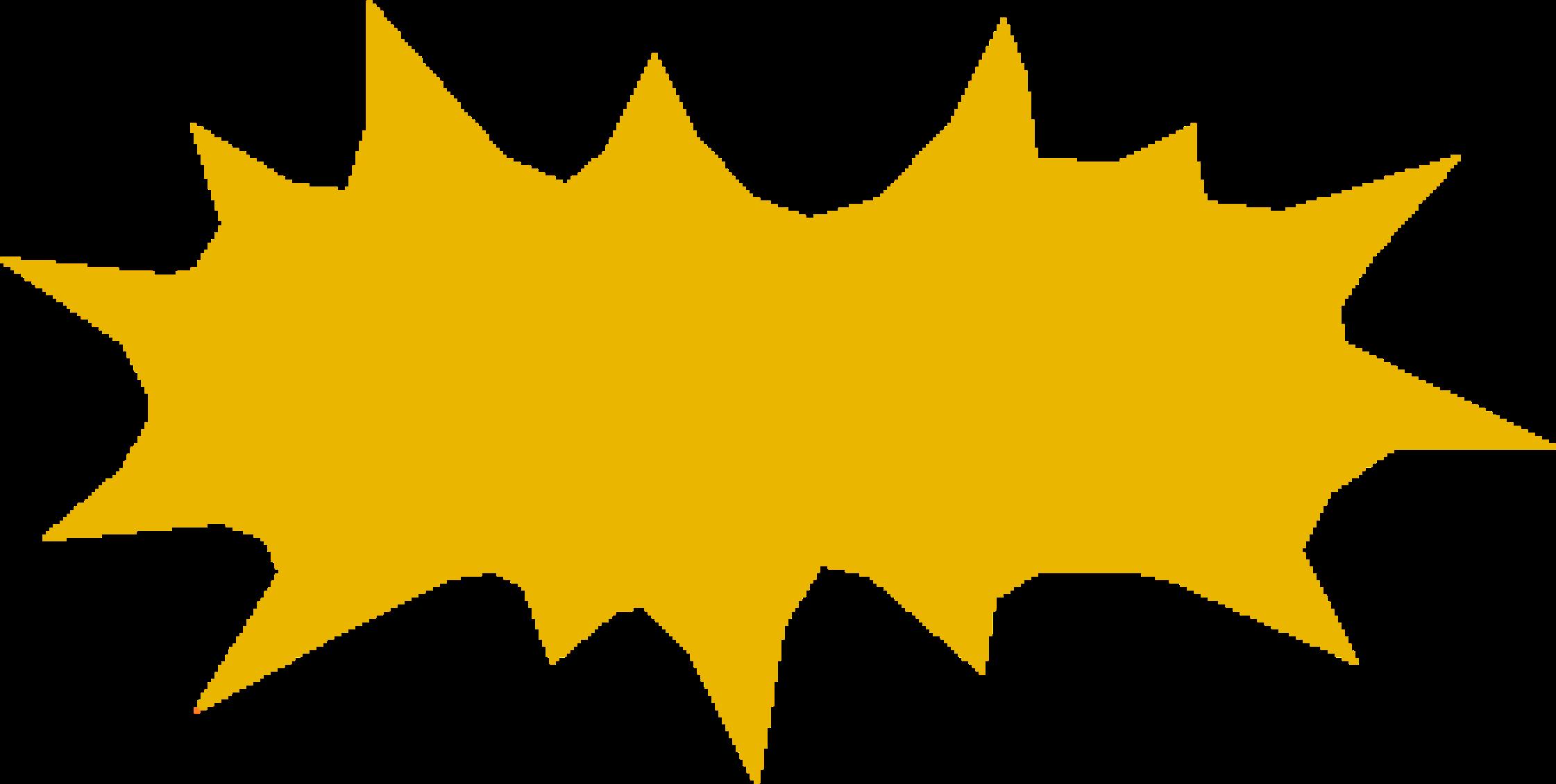 Burst clipart yellow. Big image png