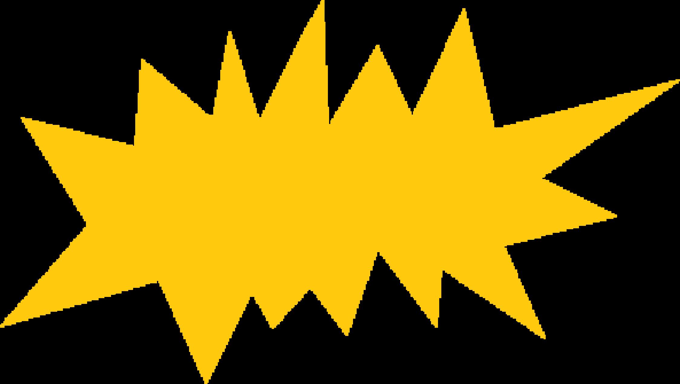 Big image png. Burst clipart yellow
