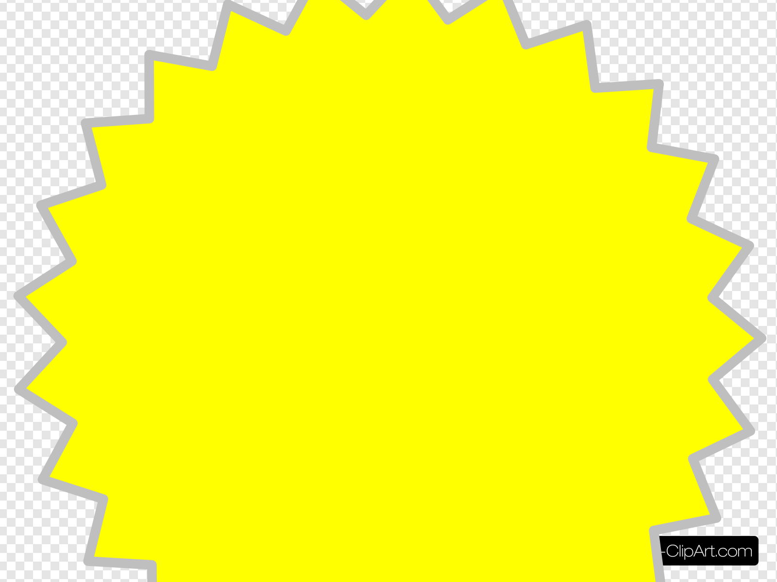 Burst clipart yellow. Clip art icon and