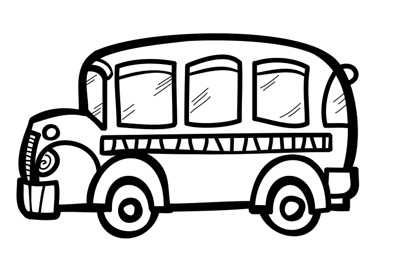 Bus clipart. The creative chalkboard free