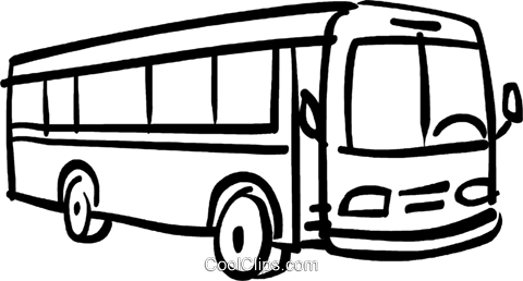 Cilpart unusual design schwarz. Bus clipart
