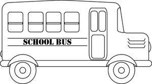 School google search hd. Bus clipart black and white