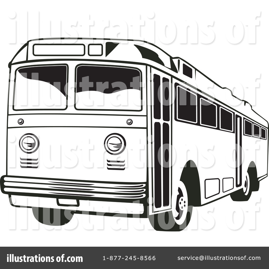 City station . Bus clipart black and white