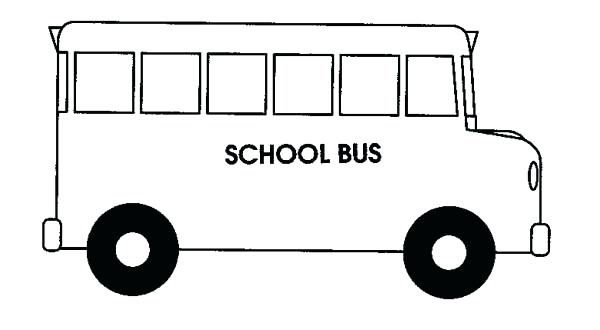 School photos of drawings. Bus clipart black and white