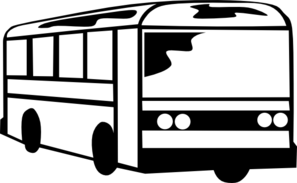 Bus clipart black and white. Panda free images busclipartblackandwhite
