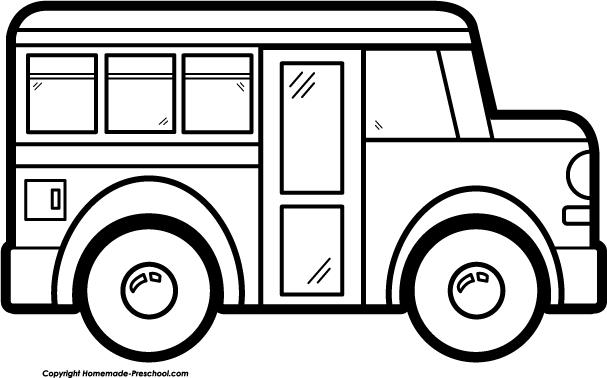 Bus clipart black and white. School preschoolclassroomclipartblackandwhite sunday for