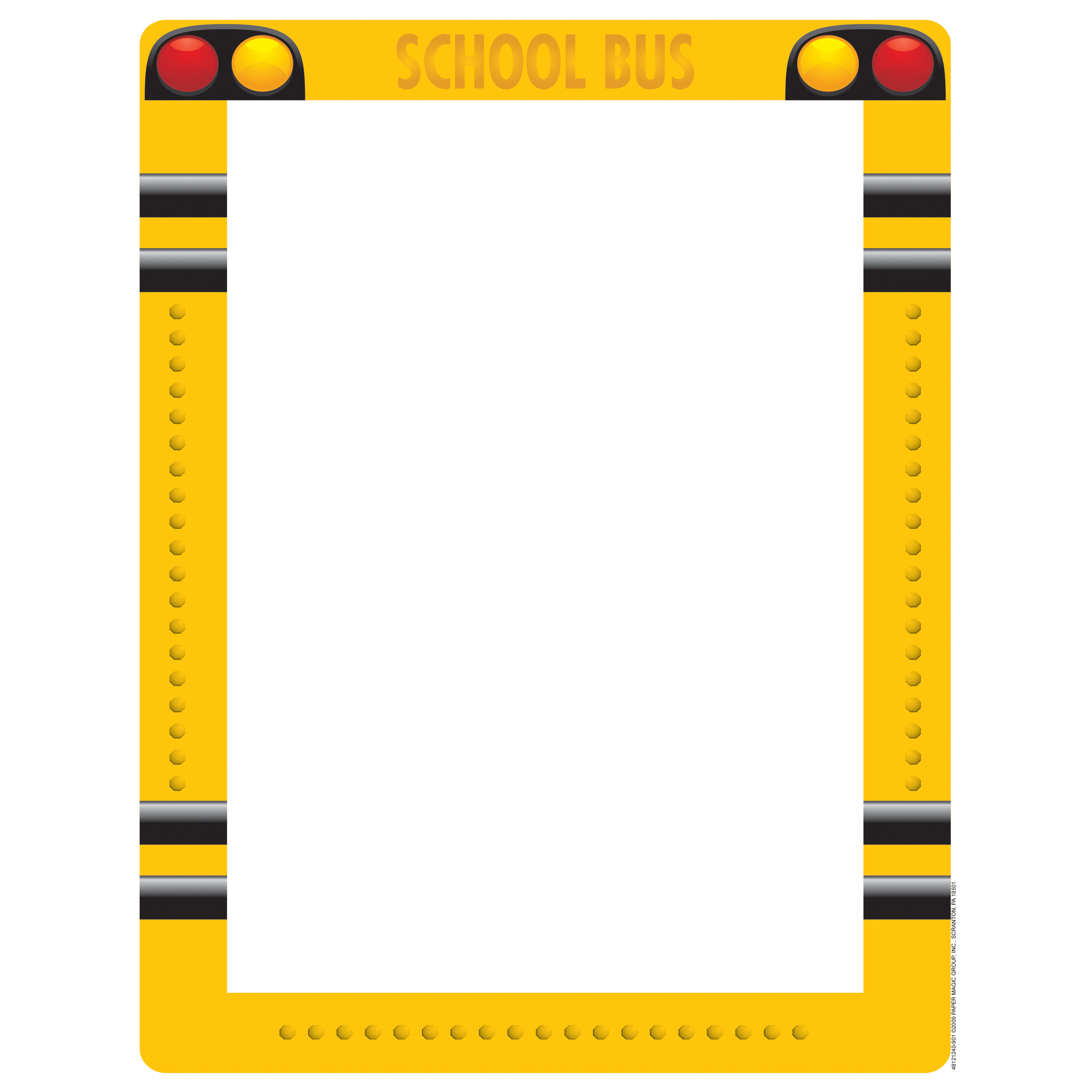 collection of school. Bus clipart border