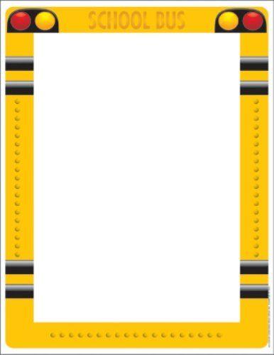 best school print. Bus clipart border