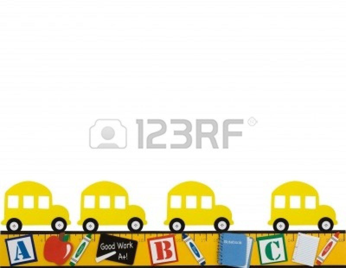 Bus clipart border. School clip art panda
