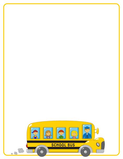 Pin by nina perozzo. Clipart bus border