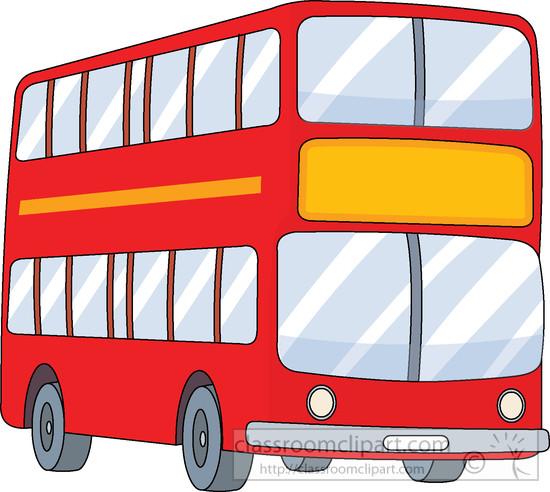 Double decker red classroom. Bus clipart bus trip
