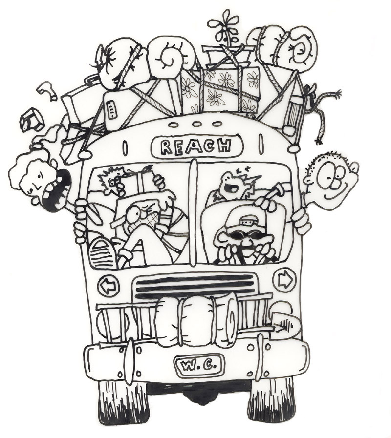 . Bus clipart camp