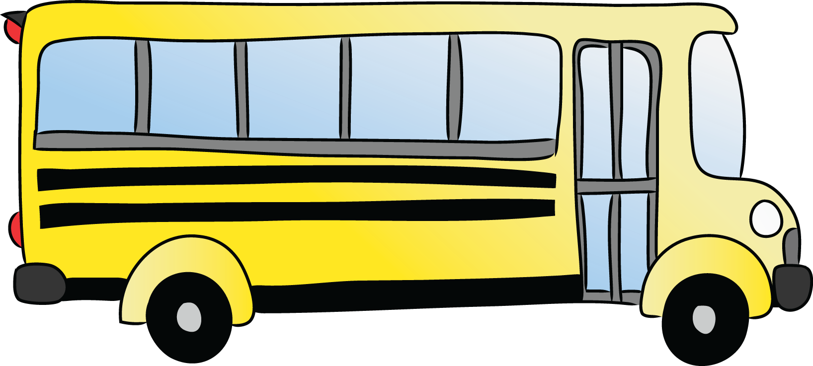 Bus clipart cartoon. Free picture of a