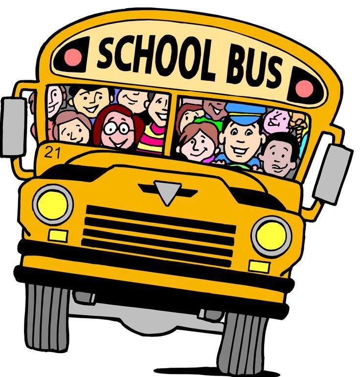 Bus clipart cartoon. Free clip art school
