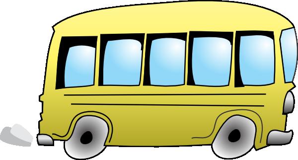 Bus clipart cartoon. Animated