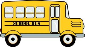 School image yellow. Bus clipart cartoon