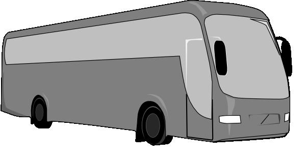 Gray clip art at. Bus clipart charter bus