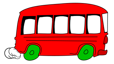 Bus clipart charter bus. Animated panda free images