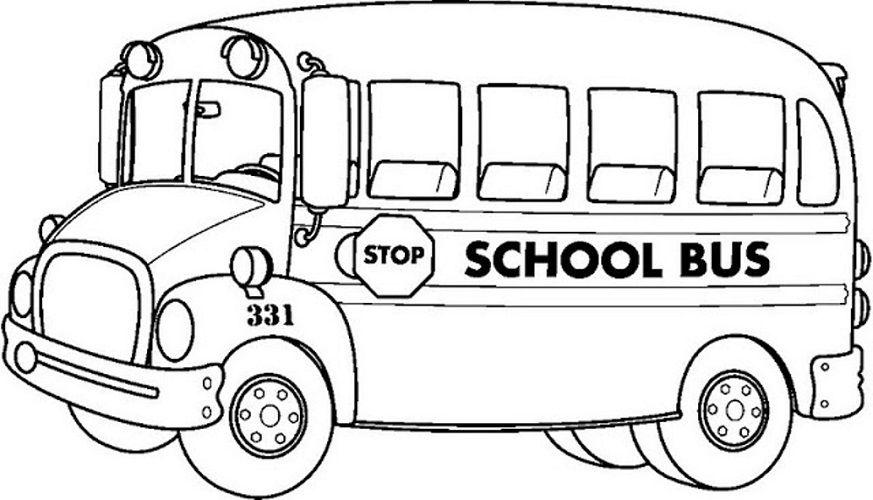 Bus clipart color. Colour picture download coloring