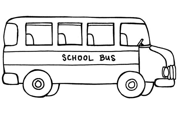 Bus clipart color. Page free coloring library