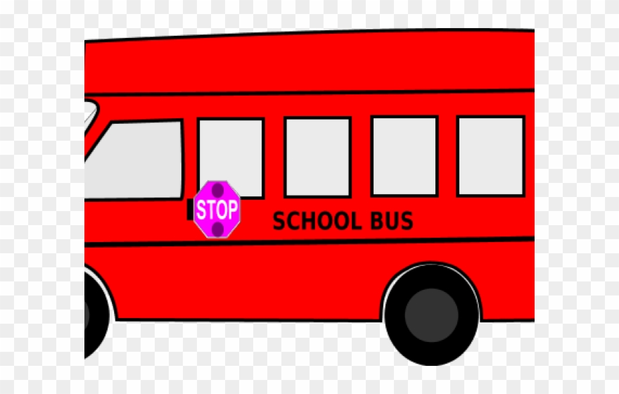 School red . Bus clipart color