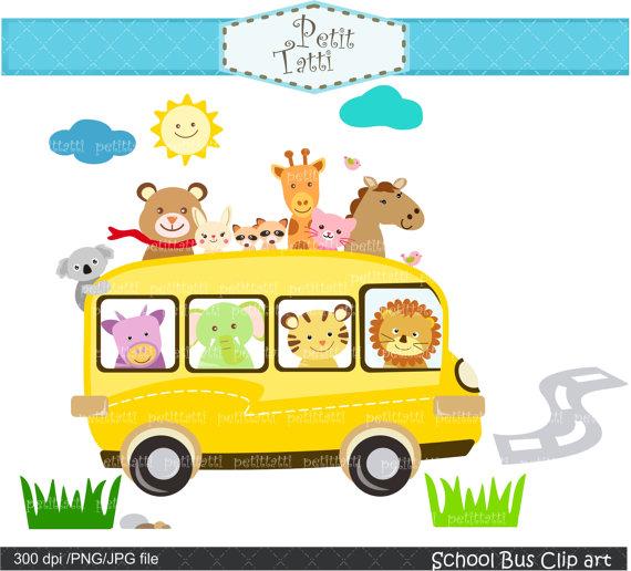 On sale school back. Bus clipart cute