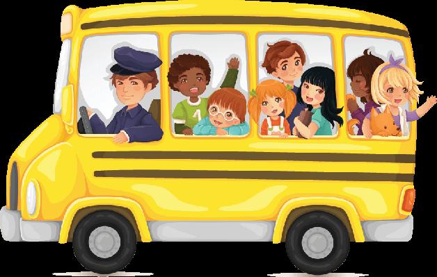 Bus clipart cute. Yellow school full of