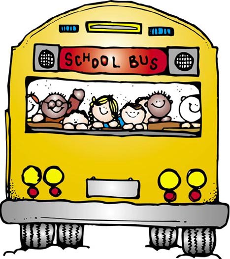 School . Bus clipart cute