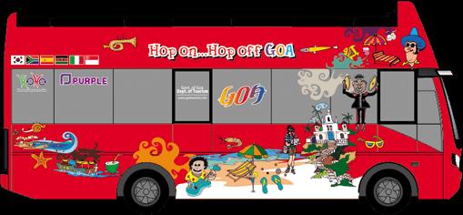 Sightseeing tour hoho goa. Bus clipart day trip