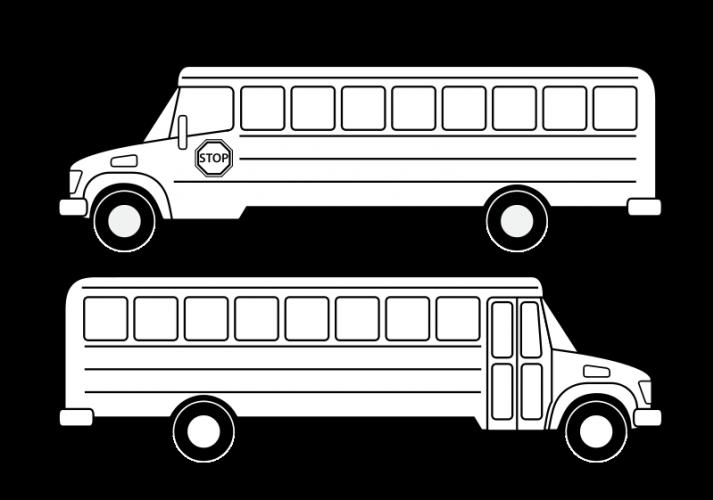 Clipart shapes bus. School vector drawing public