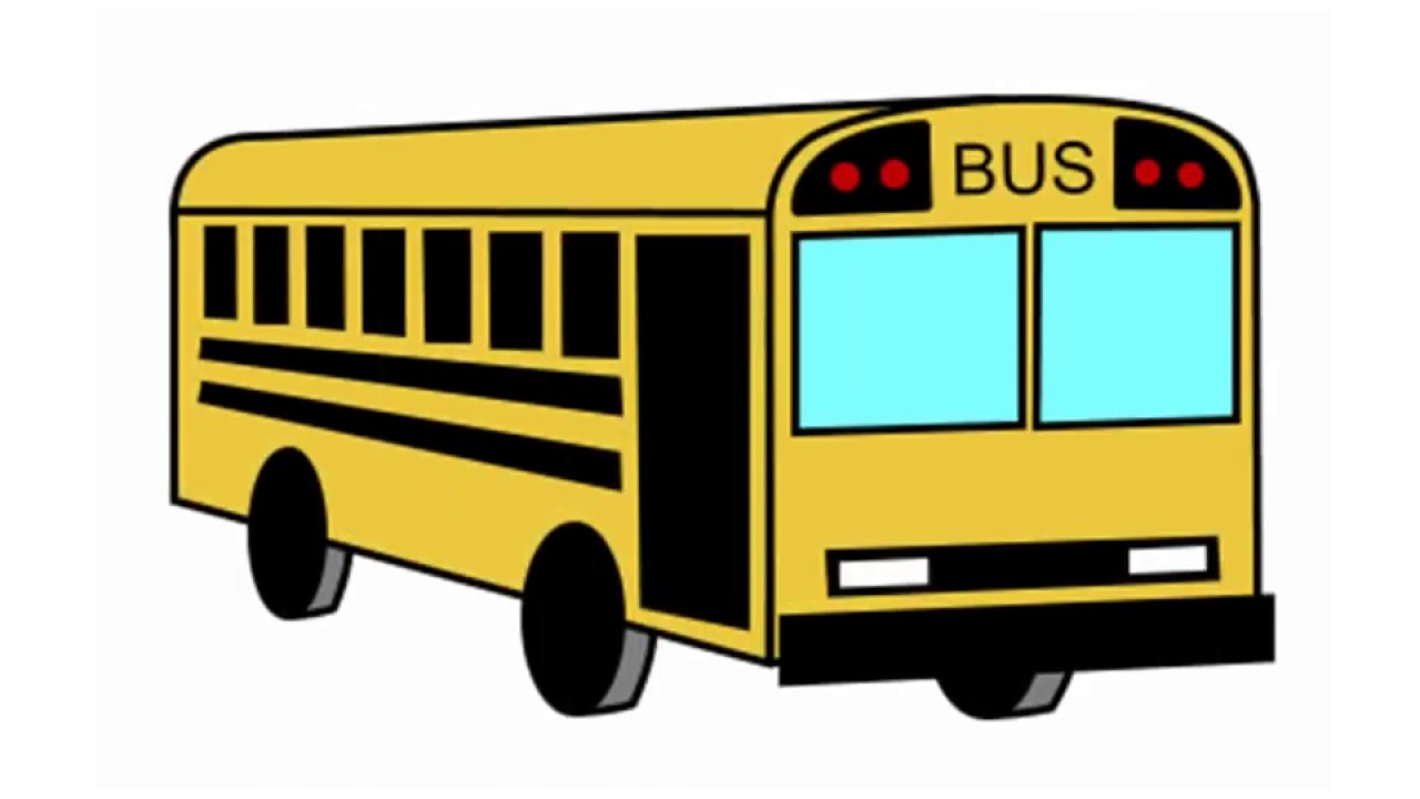 Bus clipart easy. How to draw step