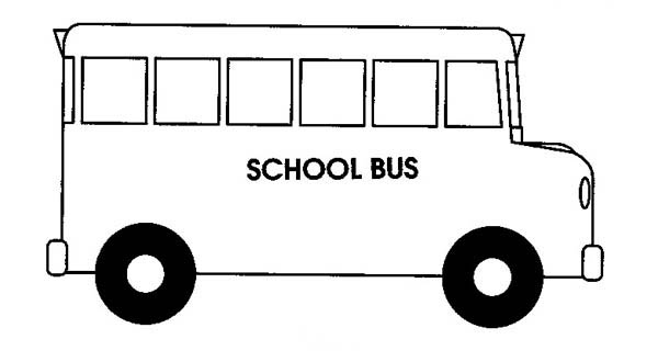collection of drawing. Bus clipart easy