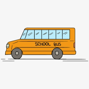 Bus clipart easy. How to draw school
