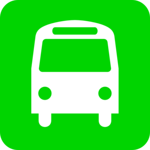 Bus clipart icon. Green clip art at